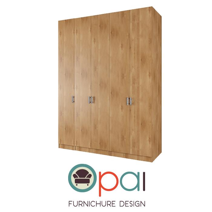 ארון בגדים5 דלתותדגםASAF במגוון צבעים
