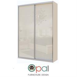ארון הזזה עם 2 דלתותזכוכיתדגם הולנדיה