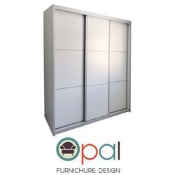 ארון הזזה שלוש דלתות ברוחב 1.8 מטר עם מסגרת אלומיניום