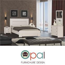 חדר שינה זוגי קומפלט מסוגנן בעיצוב נקי