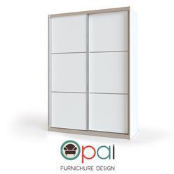 ארון הזזה 2 דלתות רוחב 1.6 מטר במגוון צבעים דגם אופל