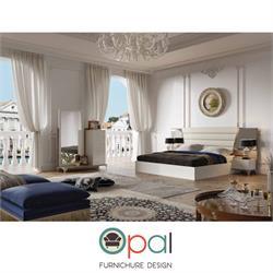חדר שינה זוגי קומפלט עם גב מיטה מרופד דגם אמבסדור