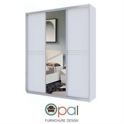 ארון הזזה 3 דלתות  עם דלת מראה ומסגרות אלומיניום