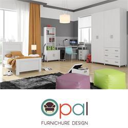 חדר ילדים קומפלט הכולל מיטה + שולחן כתיבה + ארון 4 דלתות + כוננית ושידה