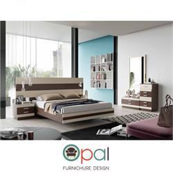חדר שינה זוגי קומפלט עם ראש רחב דגם זברה