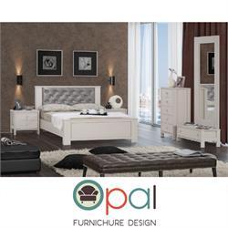 חדר שינה זוגי קומפלט עם גב מיטה מרופד דגם STAR
