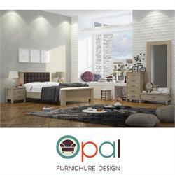 חדר שינה זוגי קומפלט  עם ראש מרופד דגם רומא