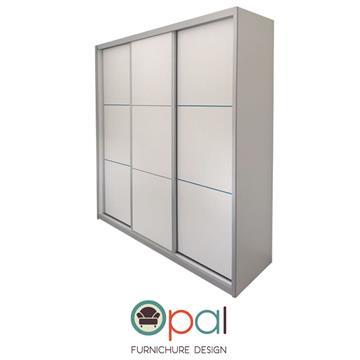ארון הזזה שלוש דלתות ברוחב 2.4 מטר עם מסגרת אלומיניום
