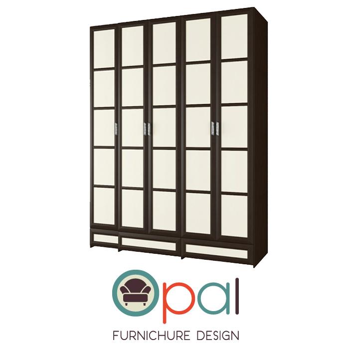 ארון בגדים5 דלתות בעיצוב מיוחד דגם יפן